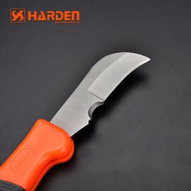 HARDEN Нож электрика изогнутый 185 мм (660105)