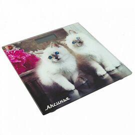 Весы напольные электронные Аксинья КС-6003 Пушистые котята фото