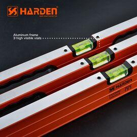 Уровень алюминиевый с резиновой ручкой 800 мм HARDEN 580512, изображение 2