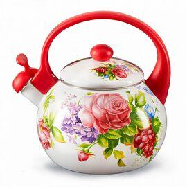 Чайник со свистком MetaLLoni Летний сад EM-25101/63 фото