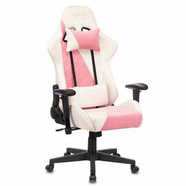 Игровое кресло Бюрократ VIKING X Fabric White-Pink (1428210) фото, изображение 2