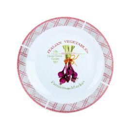"""Тарелка десертная """"Итальянские овощи"""" Коралл YQ1956 - 18 см"""