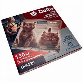 Весы напольные электронные DELTA D-9229 Рыжие котята фото, изображение 2