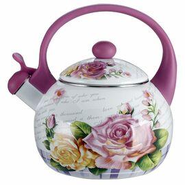 Чайник со свистком MetaLLoni Чайная роза EM-25101/35