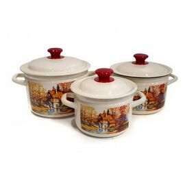 Набор посуды эмалированной 6 предметов КМК Старая мельница-1 фото