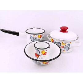 Набор посуды эмалированный детский КМЗ Кис-кис 40104-022/4 фото
