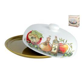 Блюдо для блинов с крышкой Оливки Коралл HC604R-G09