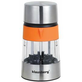 Мельница для соли и перца Klausberg KB-7020, оранжевая