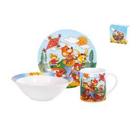 Набор посуды детский Коралл Веселые зверята TSET3K фото