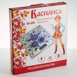 Весы кухонные Василиса ВА-005 Гжель фото, изображение 2