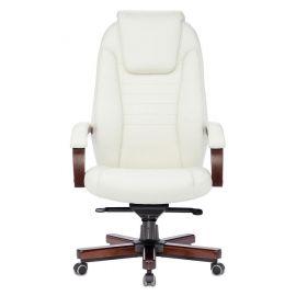 Офисное кресло руководителя Бюрократ T-9923WALNUT/IVORY кожа/дерево (1135424) фото