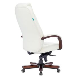 Офисное кресло руководителя Бюрократ T-9923WALNUT/IVORY кожа/дерево (1135424) фото, изображение 4
