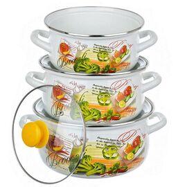 Набор посуды эмалированной 6 предметов КМК Брокколи Экстра фото