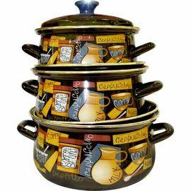Набор посуды эмалированной 6 предметов КМК Капучино-1 фото