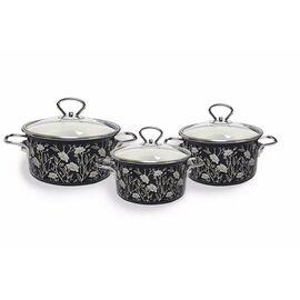 Набор посуды эмалированной 6 предметов КМЗ Белый танец-1 Элит фото