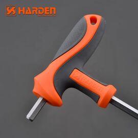 Профессиональный T-образный 6-тигранный ключ 10х200мм HARDEN 55770/540718, изображение 2