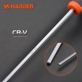Профессиональный T-образный 6-тигранный ключ 10х200мм HARDEN 55770/540718, изображение 3