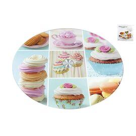 Вращающаяся подставка для торта и десертов (тортовница) Лакомство Коралл 3201