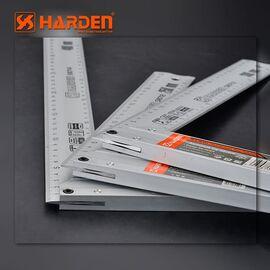 Угольник столярный алюминиевый 400мм HARDEN 580714, изображение 2