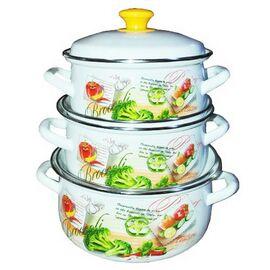 Набор посуды эмалированной 6 предметов КМК Брокколи-1 фото