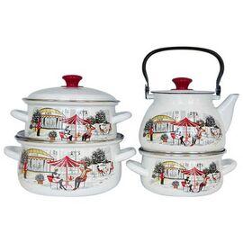 Набор посуды эмалированной 6 предметов КМК Джаз-Кафе Экстра фото