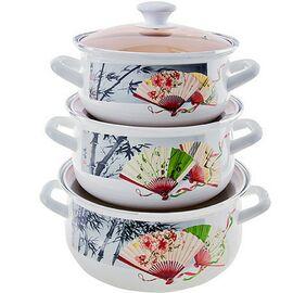 Набор посуды эмалированной 6 предметов КМК Веер-1 Экстра фото