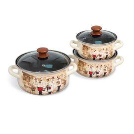 Набор посуды эмалированной 6 предметов КМЗ Сомелье-Экстра