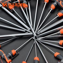 Профессиональный T-образный шестигранный ключ звездочка 9х200мм HARDEN 540729, изображение 2
