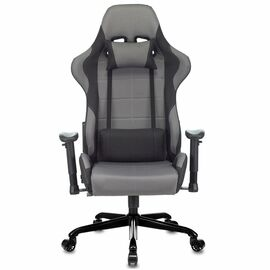 Игровое кресло Бюрократ Zombie 771N Grey + Black, Вариант цвета: grey/black фото