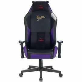 Игровое кресло Бюрократ Zombie HERO JOKER PRO, Вариант цвета: black/violet фото