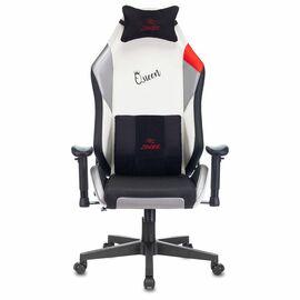 Игровое кресло Бюрократ Zombie HERO QUEEN PRO, Вариант цвета: white/silver фото