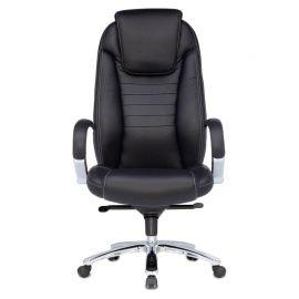 Офисное кресло руководителя Бюрократ T-9923SL/BLACK кожа+хром (1122439) фото