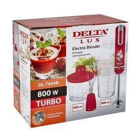 Блендер DELTA LUX DL-7044B красный, 800Вт фото, изображение 2
