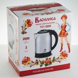 Эл.чайник Василиса Т31-2000 нерж./черный, 2л фото, изображение 2