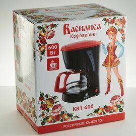 Кофеварка Василиса КВ1-600 черная/красная фото, изображение 2