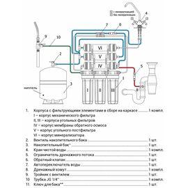 Система обратного осмоса Гейзер-Аллегро М (металлич. бак 12л) фото, изображение 4