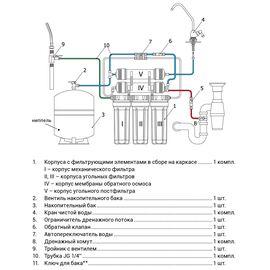 Система обратного осмоса Гейзер-Престиж бак 12 л (Стандарт, кран исп. 6 ) фото, изображение 5