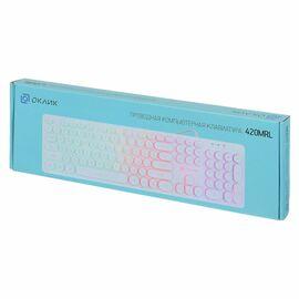 Клавиатура Oklick 420MRL Белый фото, изображение 6