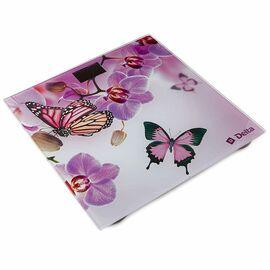 """Весы напольные электр.DELTA D-9235/1 """"Бабочки в цветах"""" фото"""