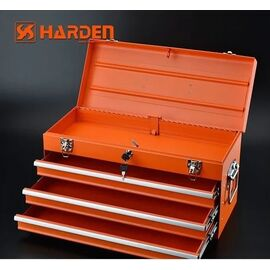 HARDEN Металлический кейс с 3 выдвижными ящиками фото, изображение 2