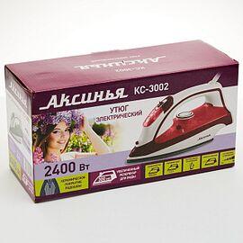 Утюг Аксинья КС-3002 белый/вишневый фото, изображение 3