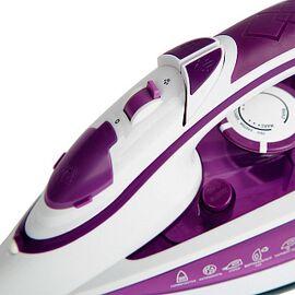 Утюг DELTA LUX DL-352 белый/фиолетовый, 2200Вт, кер фото, изображение 2
