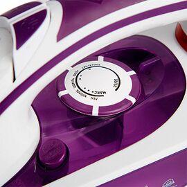 Утюг DELTA LUX DL-352 белый/фиолетовый, 2200Вт, кер фото, изображение 3