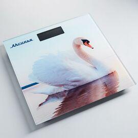 Весы напольные электронные Аксинья КС-6010 Белый лебедь фото
