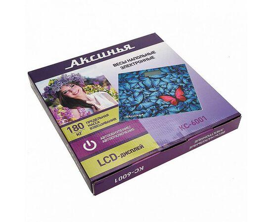 Весы напольные электронные Аксинья КС-6001 Бабочки фото, изображение 2