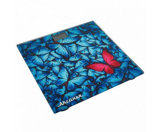 Весы напольные электронные Аксинья КС-6001 Бабочки фото