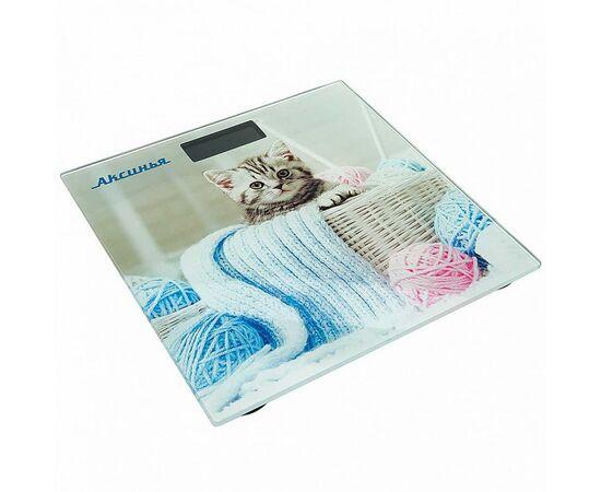 Весы напольные электронные Аксинья КС-6002 Забавный котенок фото