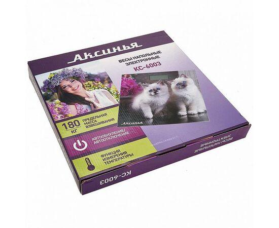 Весы напольные электронные Аксинья КС-6003 Пушистые котята фото, изображение 2