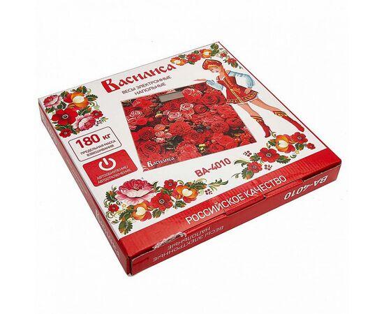 Весы напольные электронные Василиса ВА-4010 Цветы фото, изображение 2