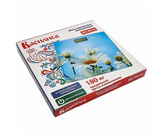 Весы напольные электронные Василиса ВА-4014 Ромашки фото, изображение 2